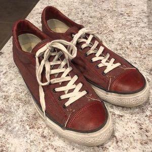 Red John Varvatos Converse Sneakers